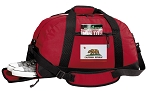 California Flag Duffel Bag with Shoe Pocket Red