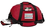 Chicago Flag Duffel Bag with Shoe Pocket Red