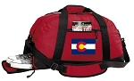 Colorado Duffel Bag with Shoe Pocket Red