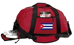 Cuba Gym Bag - Cuban Flag Duffel BAG with Shoe Pocket RED