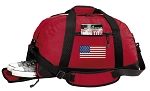 American Flag Duffel Bag with Shoe Pocket Red