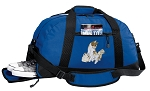 Cute Cats Duffel Bag with Shoe Pocket Blue