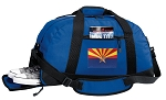 Arizona Duffel Bag with Shoe Pocket Blue
