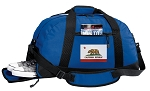 California Flag Duffel Bag with Shoe Pocket Blue