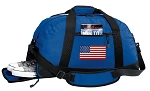 American Flag Duffel Bag with Shoe Pocket Blue