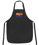 Deluxe Arizona Flag Apron Black