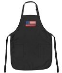 Deluxe American Flag Apron Black