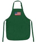 American Flag Apron Green