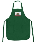 California Flag Apron Green