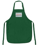 Deluxe Chicago Flag Apron Green