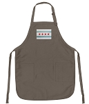 Chicago Flag Deluxe Apron Khaki