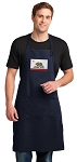 California Flag Apron LARGE Navy