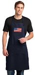 American Flag Apron LARGE Navy