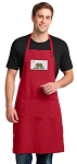 California Flag Large Apron Red