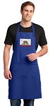 California Flag Large Apron Royal