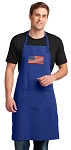 American Flag Large Apron Royal