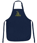Deluxe Don't Tread on Me Apron Navy
