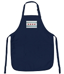 Chicago Flag Apron Navy