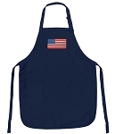Deluxe USA Flag Apron Navy
