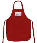 Chicago Flag Apron Red
