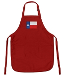 Deluxe Texas Flag Apron Red