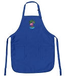 Deluxe Flamingos Apron Blue