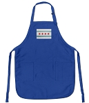 Chicago Flag Apron Blue