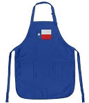 Deluxe Texas Flag Apron Blue