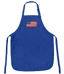 Deluxe USA Flag Apron Blue