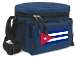 Cuban Flag Lunch Bag Cuba Lunchbox Navy