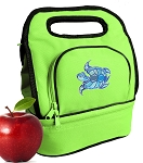 Turtle Lunch Bag 2 Section Lime