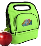 Crazy Cat Lunch Bag 2 Section Lime