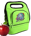 Field Hockey Lunch Bag 2 Section Lime