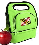 Maryland Lunch Bag 2 Section Lime