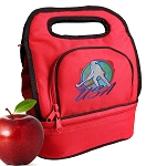 Field Hockey Lunch Bag 2 Section Red