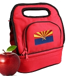 Arizona Lunch Bag 2 Section Red