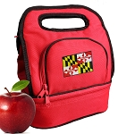Maryland Lunch Bag 2 Section Red