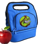 Softball Lunch Bag 2 Section Royal