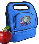 Field Hockey Lunch Bag 2 Section Blue