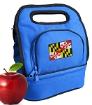 Maryland Lunch Bag 2 Section Blue