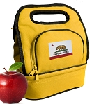 California Flag Lunch Bag 2 Section Gold