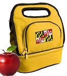 Maryland Lunch Bag 2 Section Gold