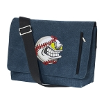 Baseball Messenger Bags STYLISH WASHED COTTON CANVAS Blue