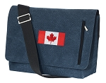 Canada Messenger Bags STYLISH WASHED COTTON CANVAS Blue
