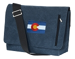 Colorado Messenger Bags STYLISH WASHED COTTON CANVAS Blue