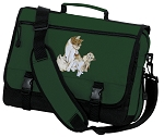 Cute Cats Messenger Bag Green