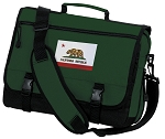 California Flag Messenger Bag Green
