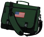 American Flag Messenger Bag Green