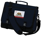California Flag Messenger Bag Navy