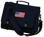 American Flag Messenger Bag Navy